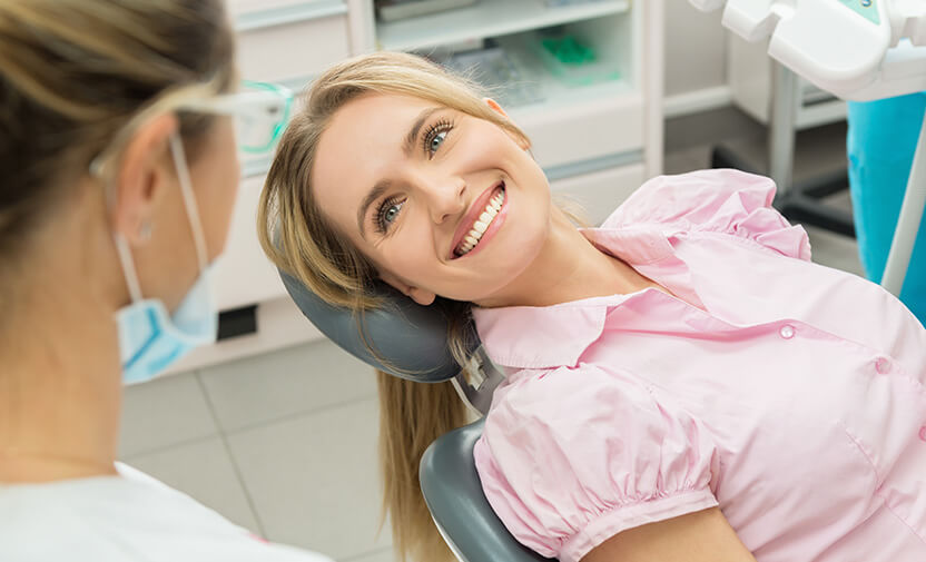 woman in dentist chair